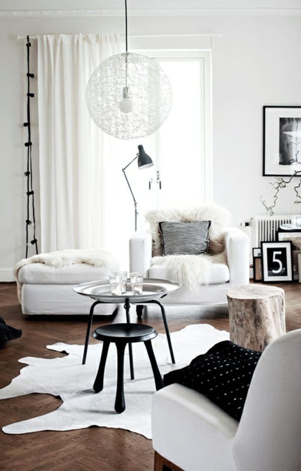 Beistelltisch Holzblock wohnzimmer gardinen