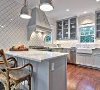 15 moderne graue Küchenschränke in warmen Nuancen | {Küchenmöbel einzeln 78}