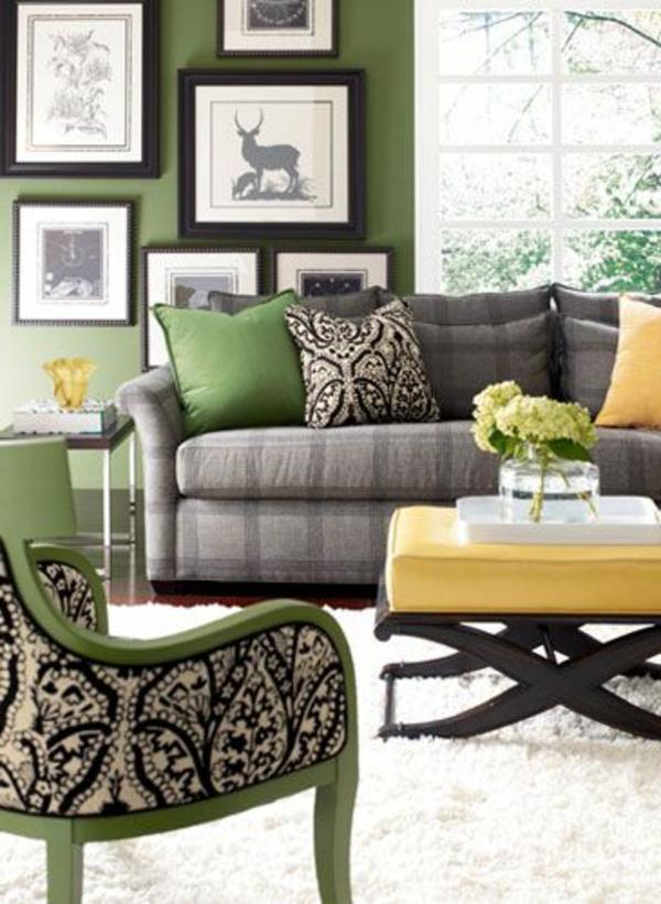 Wohnzimmer wandfarben Farbbeispiele   farbgestaltung art