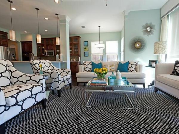 Wohnzimmer wandfarben Farbbeispiele farbgestaltung dunkel