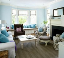 Farbbeispiele fürs Wohnzimmer – kräftige Farbgestaltung