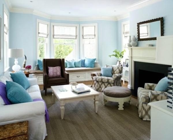 Zeitgenossisch Wandfarben Wohnzimmer ~ Farbbeispiele fürs wohnzimmer kräftige farbgestaltung zu
