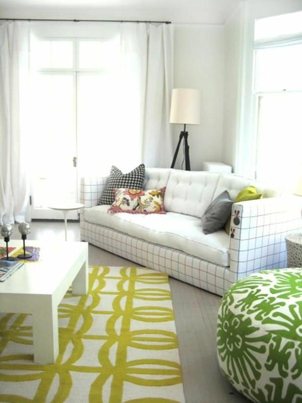 Wohnzimmer Farbbeispiele  wandfarben farbgestaltung grün