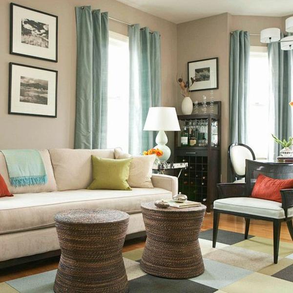 Wohnzimmer wandfarben Farbbeispiele farbgestaltung holz