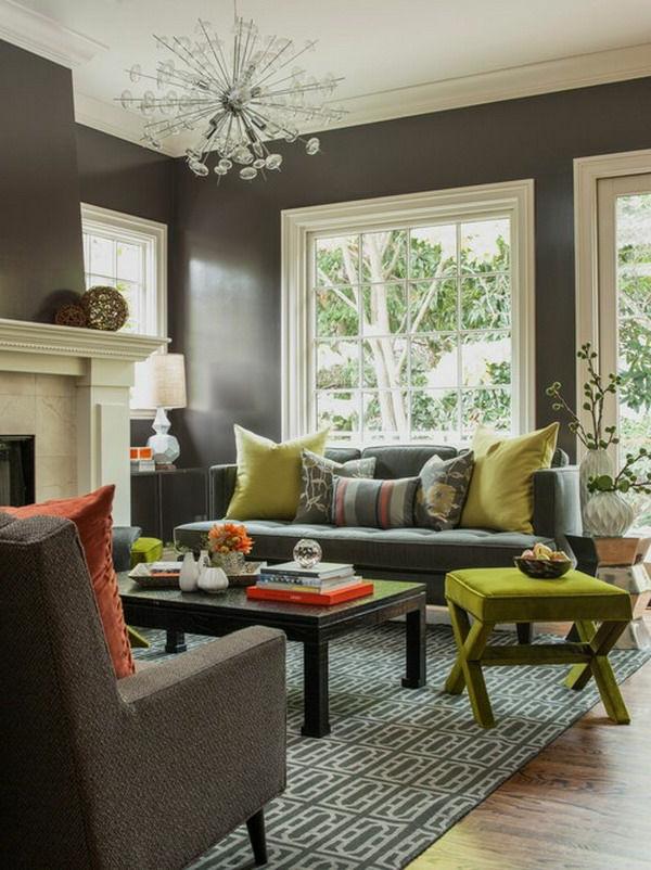 Wohnzimmer wandfarben farbgestaltung idee