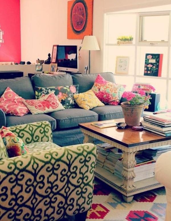 Farbbeispiele fürs Wohnzimmer wandfarben farbgestaltung rot