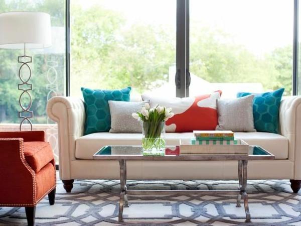Wohnzimmer wandfarben farbgestaltung sofa Farbbeispiele