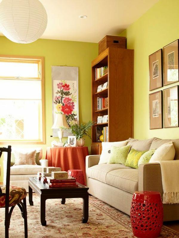 Farbbeispiele f rs wohnzimmer kr ftige farbgestaltung zu - Wohnzimmer farbgestaltung ...