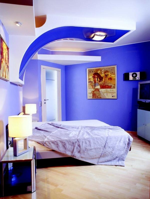 Farbideen für Wände wandgestaltung wohnzimmer beleuchtung
