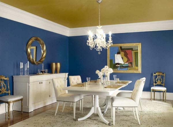 design : wandgestaltung wohnzimmer blau ~ inspirierende bilder von ...