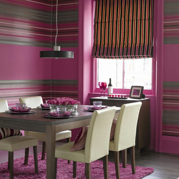 Farbideen für Wände wandgestaltung wohnzimmer esszimmer