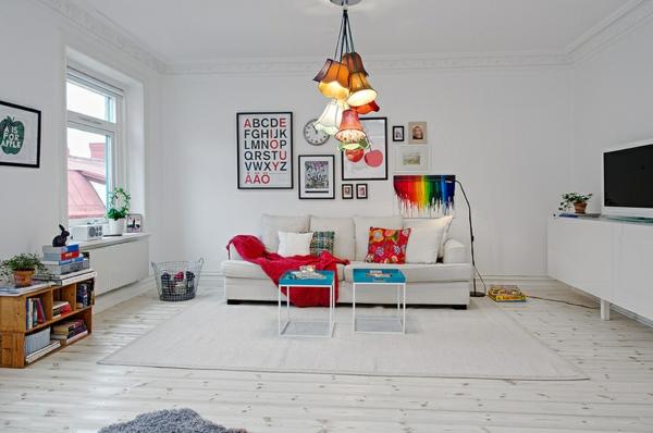 Farbideen für Wände wandgestaltung wohnzimmer hell