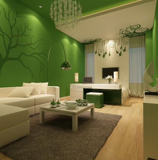 Farbideen für Wände wandgestaltung wohnzimmer licht