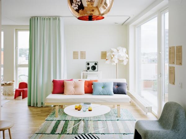 Farbideen Wände wandgestaltung wohnzimmer pastell
