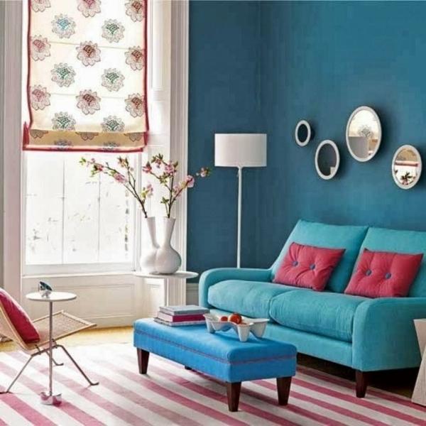 Farbideen für Wände wandgestaltung wohnzimmer streifen