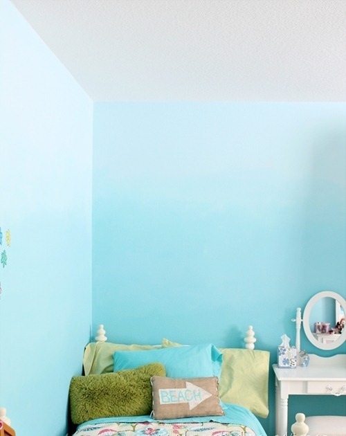 Farbpaletten für Wandfarben ombre