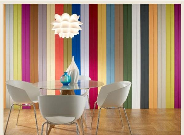 Farbpaletten vertikal lebhaft Wandfarben bunt streifen
