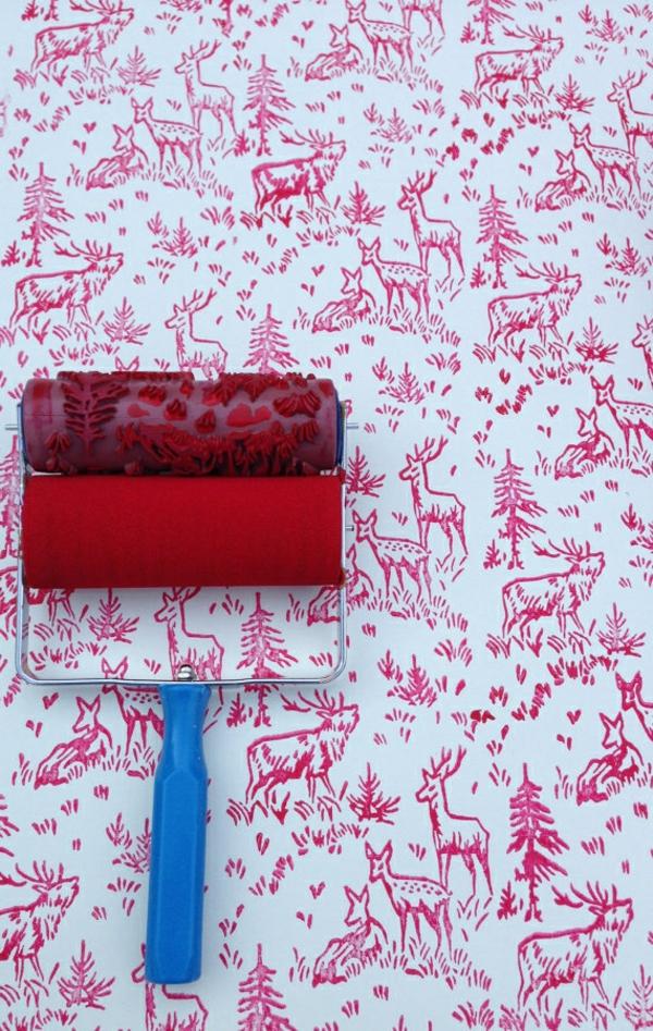 Farbpaletten Für Wandfarben Walze Rot Wald