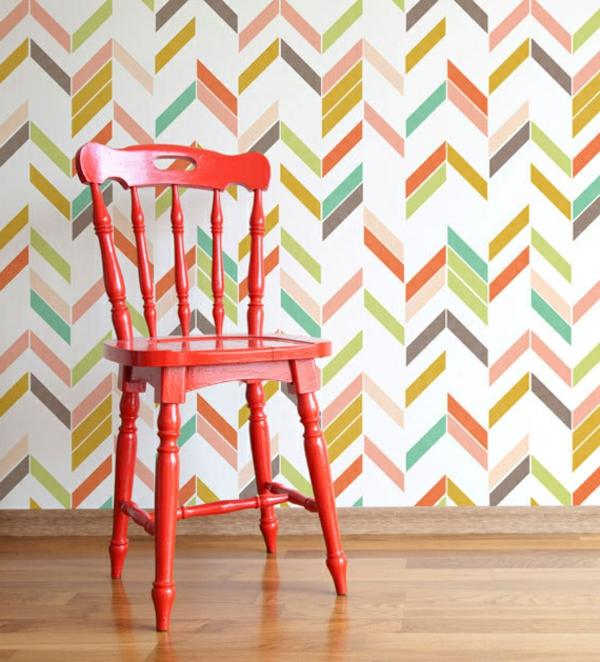 Farbpaletten für Wandfarben zickzack herring stuhl