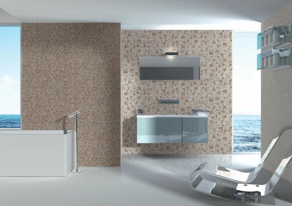 fliesengestaltung im bad badezimmer bilder braun - Fliesengestaltung Bad