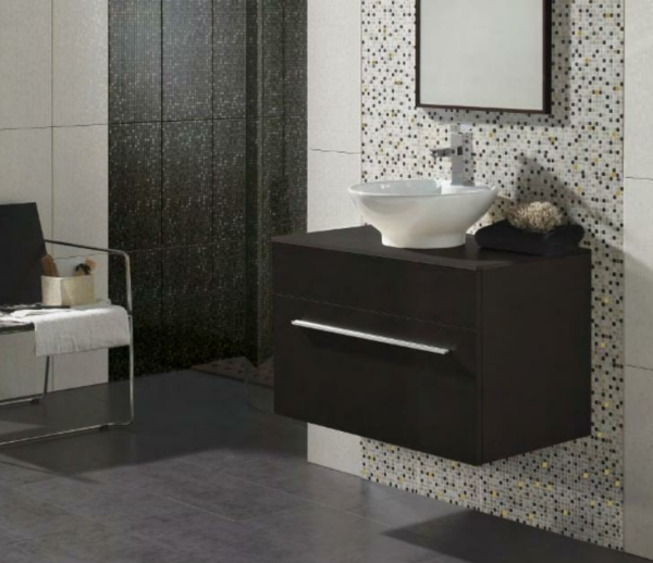 fliesengestaltung im bad coole badezimmer bilder. Black Bedroom Furniture Sets. Home Design Ideas