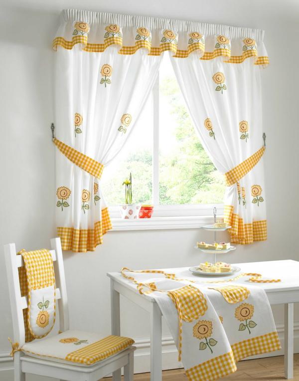 Gardinenvorschlage fruhlingshafte vorhange und gardinen for Vorh nge küche