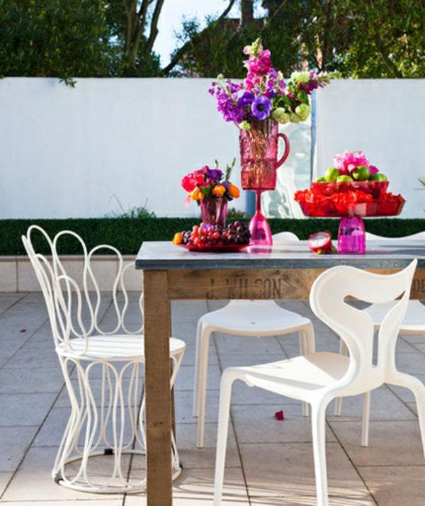 Gartendeko selber machen esstisch stühle