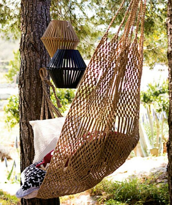 Gartendeko selber machen hängematte