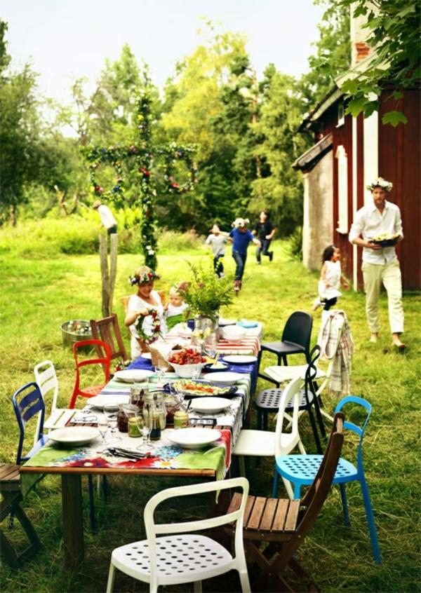 Gartenhaus Schwedenstil party garten
