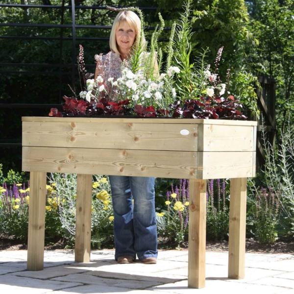 Gemüse undKräuterhochbeet selber bauen beine