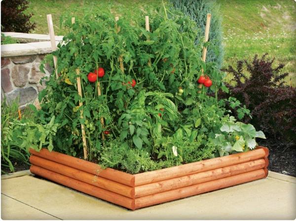 Gemüse Kräuterhochbeet selber bauen idee