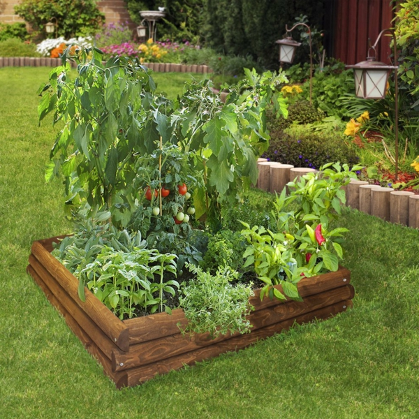 Gemüse Kräuterhochbeet selber bauen
