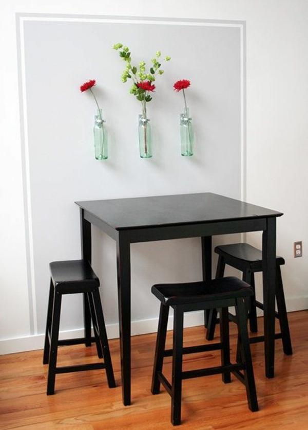 k chenwandgestaltung kreative wandfarben und muster f r. Black Bedroom Furniture Sets. Home Design Ideas