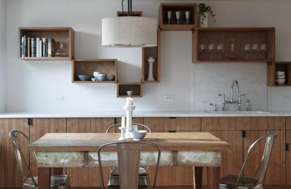 Küchenwandgestaltung-spritzschutz-küche-holz