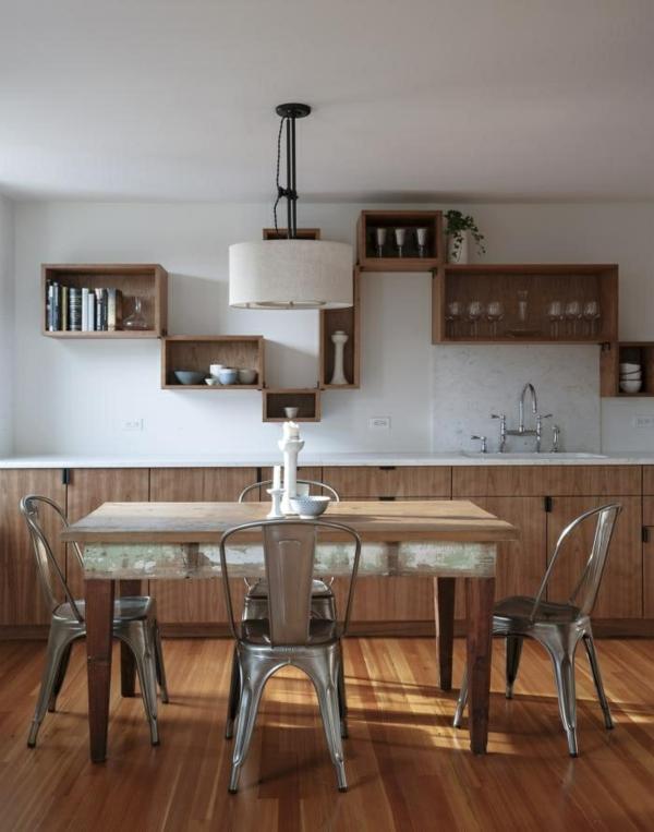 Küchenwandgestaltung spritzschutz küche holz