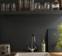 k chenr ckwand aktuelle trends f r ihre k cheneinrichtung mit farben und fliesen freshideen 1. Black Bedroom Furniture Sets. Home Design Ideas