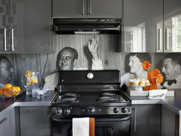 Küchenwand gestalten spritzschutz küche toll