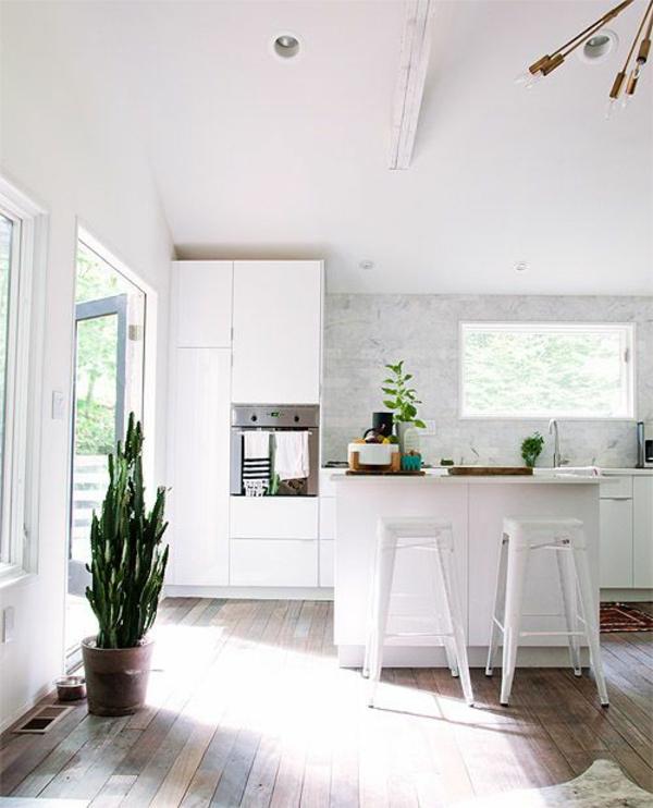 Küchen einrichtung wandgestaltung spritzschutz küche weiß