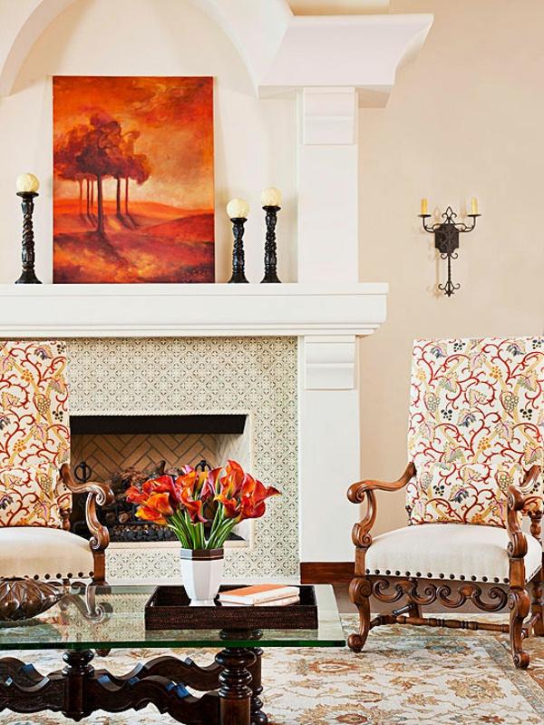 Kamine und Feuerstellen traditionell ambiente wohnzimmer