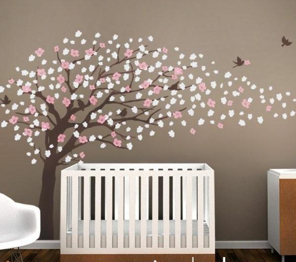 Wandtattoo babyzimmer  Kinderzimmerwände gestalten - lustige Wandsticker und Wandtattoos