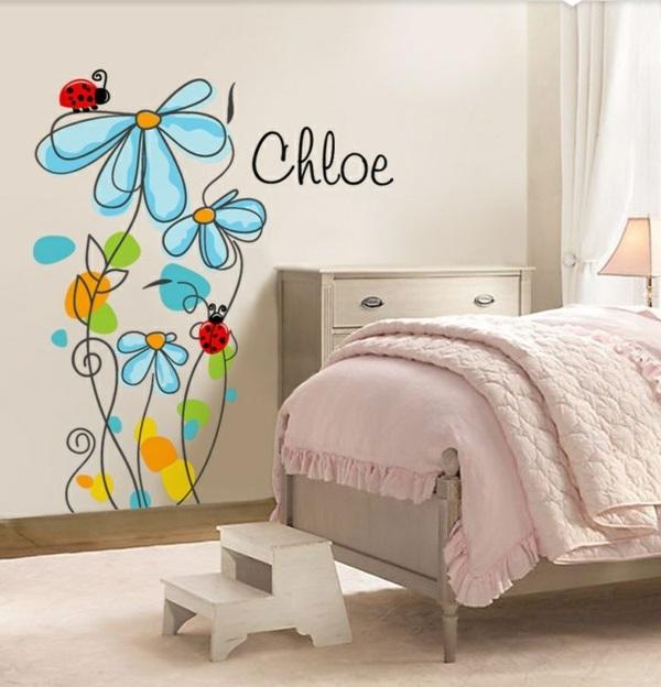 Kinderzimmerwände gestalten – lustige Wandsticker und Wandtattoos