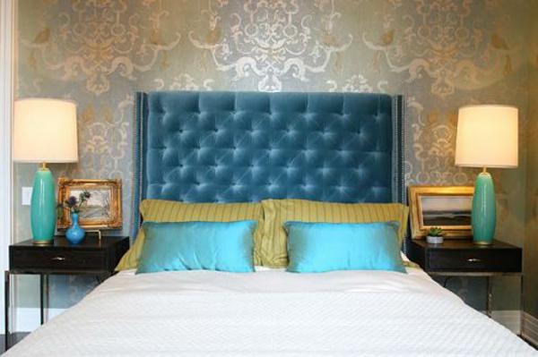 Kopfteile samt Betten samt türkis dunkel blau schlafzimmer