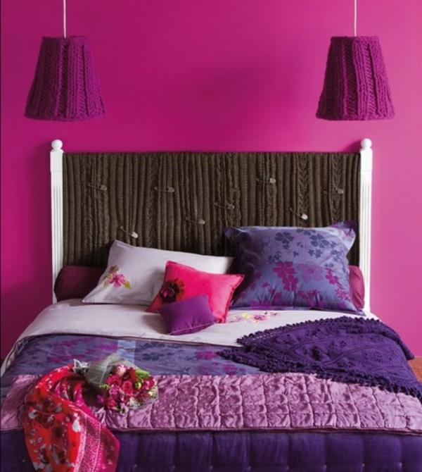 Kopfteile Betten wandfarben schlafzimmer mädchen