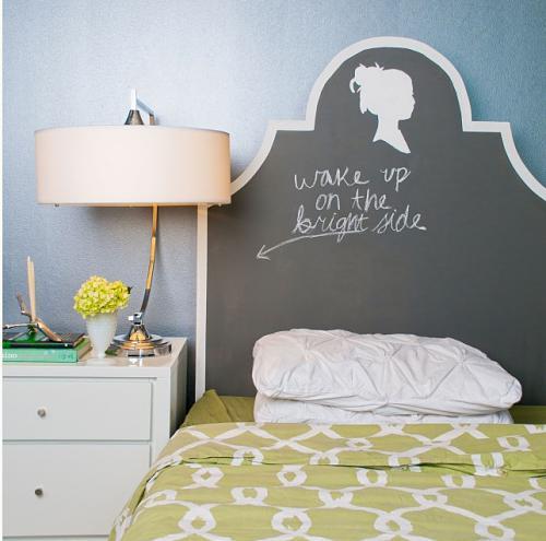 Kopfteile Betten wandfarben verspielt wake up