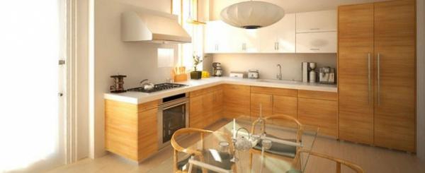 Küchen l form holz  15 atemberaubende moderne Küchen in der L - Form