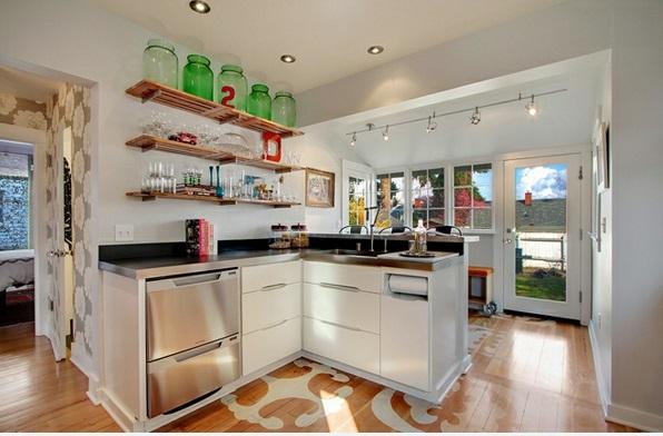 L förmig moderne küchen verzinkt bar