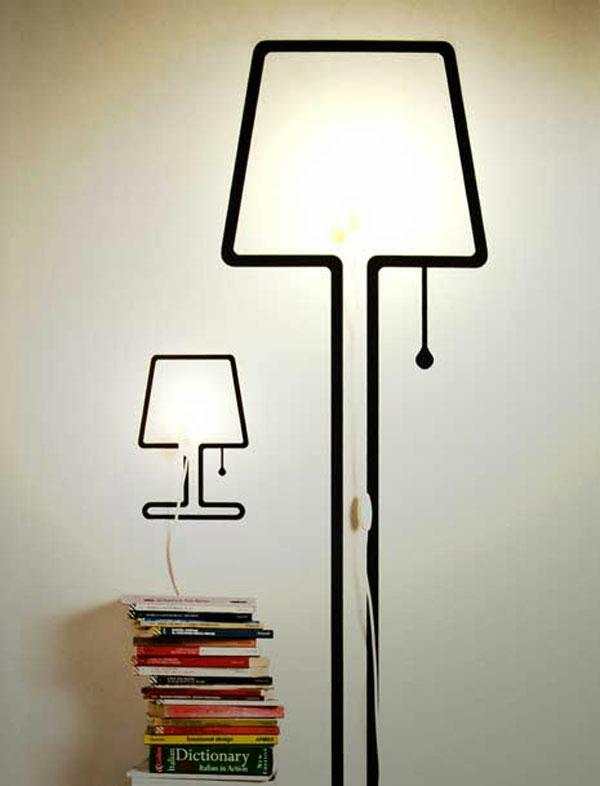 Lampen Design wanddeko lampenform wand
