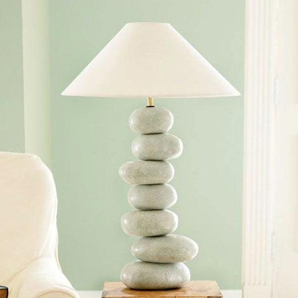 Lampen zen stil Design lampenfuß flusssteine