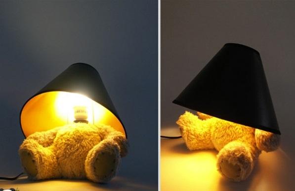 Lampen plüsch Design lampenfuß teddy bear