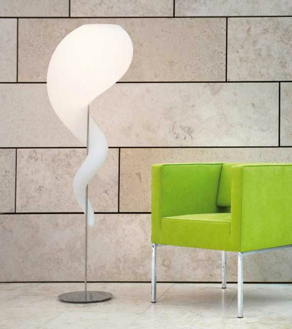Lampen Design stehlampe lampenschirm grün sessel